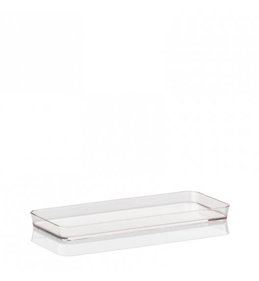 KELA Przeźroczysta taca na akcesoria łazienkowe KRISTALL jasna 26 x 11 cm / FreeForm