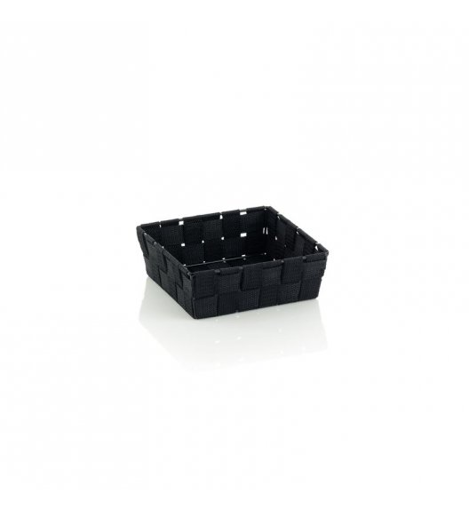 KELA Koszyk łazienkowy ALVARO czarny 19 x 19 x 6 cm / FreeForm