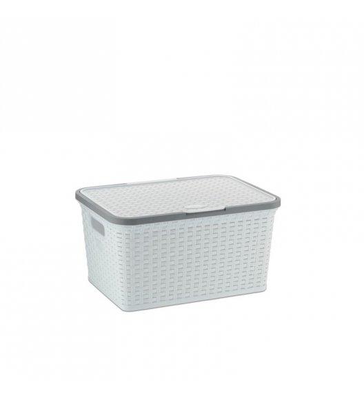 KELA Kosz na akcesoria łazienkowe RIO biały 30 × 41 × 21,5 cm / FreeForm