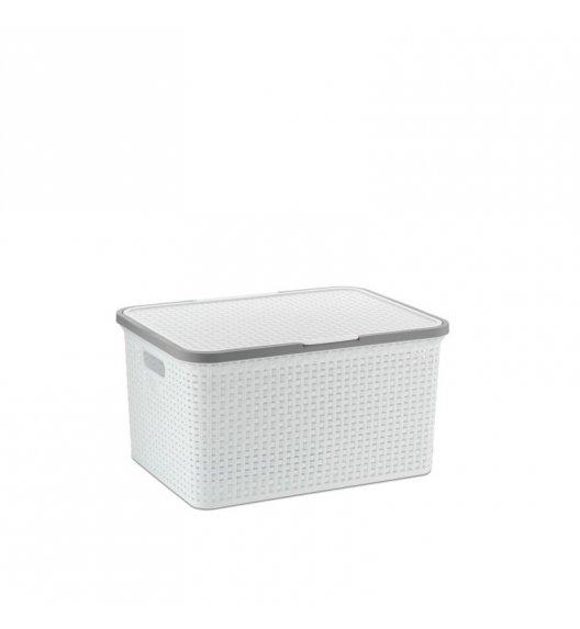 KELA Kosz na akcesoria łazienkowe RIO 34,5 × 48 × 24,5 cm biały / FreeForm