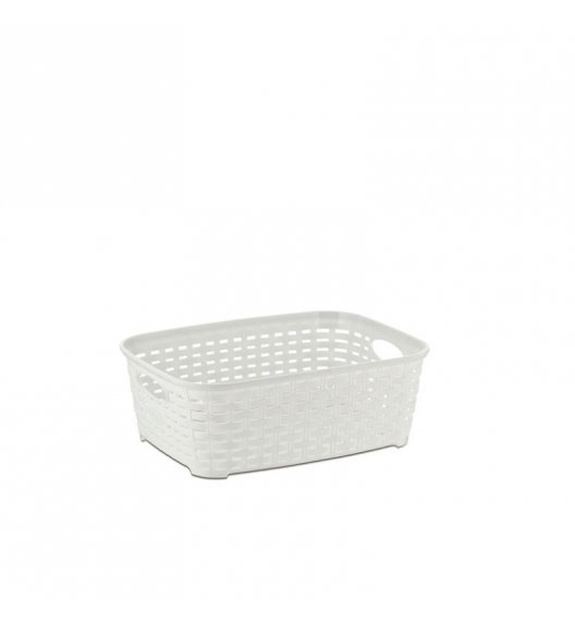 KELA Kosz na akcesoria łazienkowe RIO biały 25,5 × 18,5 × 9 cm / FreeForm