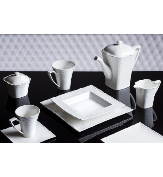 DUO RITZ Komplet obiadowo kawowy 66 el. / 12 osób / porcelana