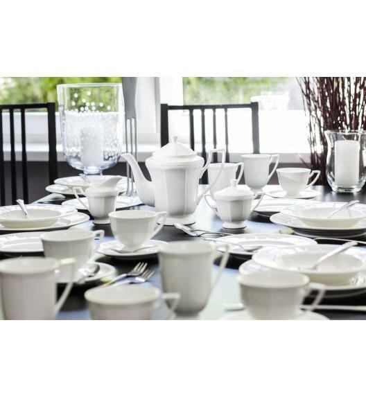 DUO CASSETTE Komplet obiadowo-kawowy 33 el / 6 osób / porcelana