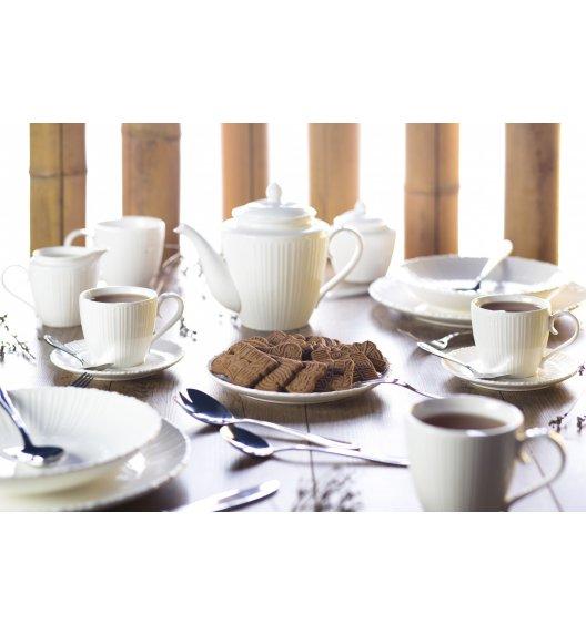 DUO VIOLET Komplet obiadowy + kawowy 33 el / 6 osób / porcelana