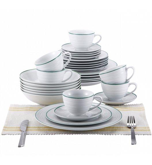 BLAUMANN Serwis obiadowo-kawowy 6 osób / 30 elementów Porcelana / BL-2039-1