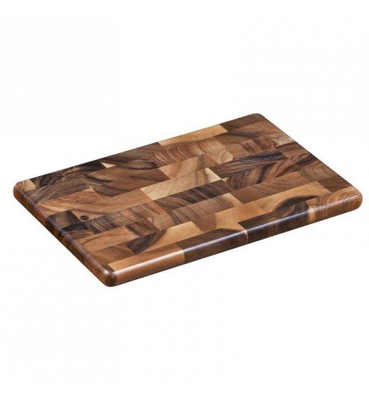 ZASSENHAUS Deska do krojenia typu end grain z drewna akacjowego 36 × 23 × 2 cm / FreeForm