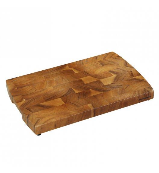 ZASSENHAUS Deska do siekania typu end grain z drewna akacjowego 40 × 25 × 3 cm / FreeForm