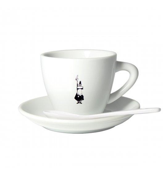 BIALETTI CLASSIC Filiżanka ze spodkiem cappuccino 210 ml + łyżeczka/ scapol