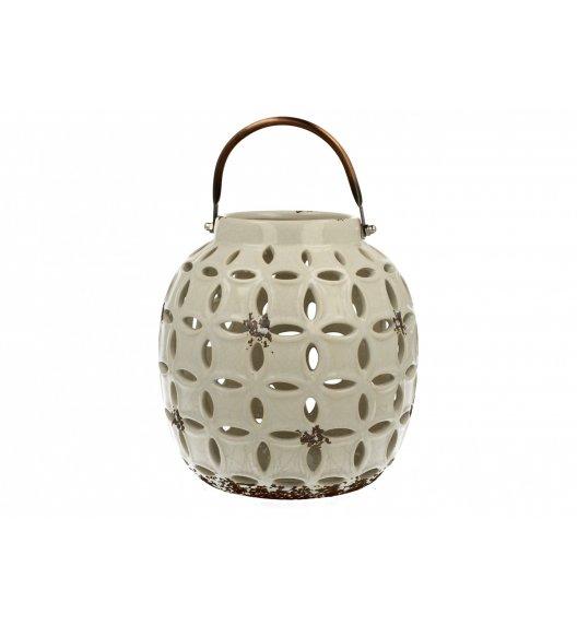 WYPRZEDAŻ! DUO Lampion ceramiczny Owal 17,8 cm Biały