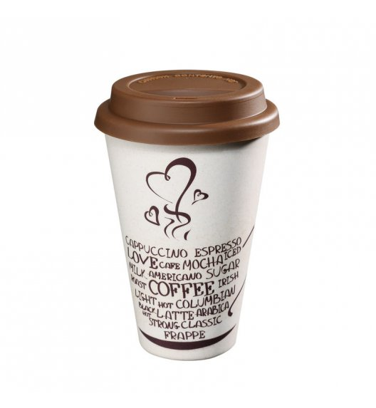 ZASSENHAUS Kubek na kawę z bioplastiku ECO LINE ⌀ 10 cm, kawa / FreeForm