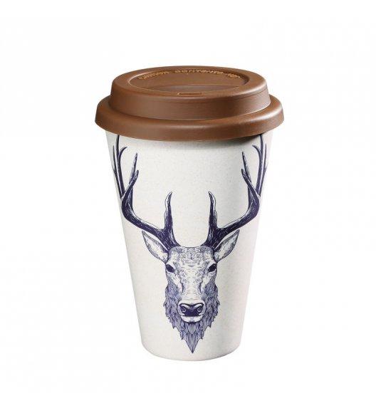 ZASSENHAUS Kubek na kawę z bioplastiku ECO LINE ⌀ 10 cm, jeleń / FreeForm