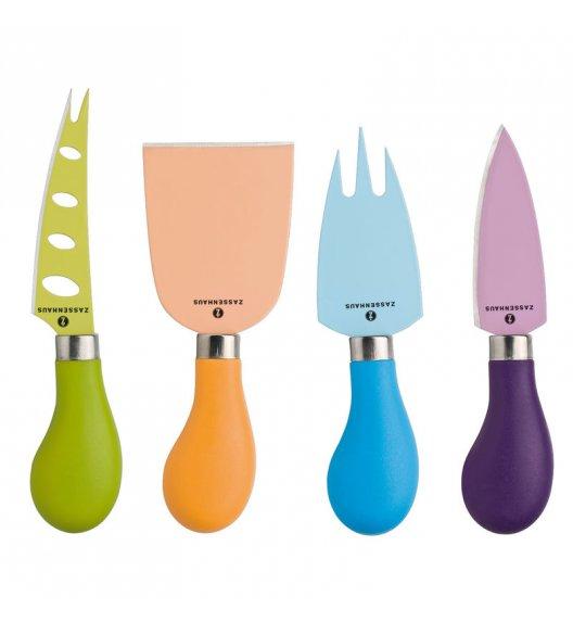 ZASSENHAUS Zestaw noży do serów EASY CUT kolorowe / FreeForm