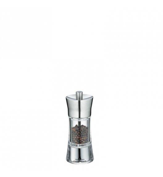 ZASSENHAUS Młynek do pieprzu AACHEN ⌀ 5,8 x 14 cm, stalowo-akrylowy / FreeForm
