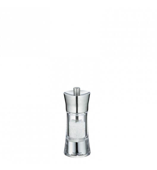 ZASSENHAUS Młynek do soli AACHEN ⌀ 5,8 x 14 cm, stalowo-akrylowy / FreeForm