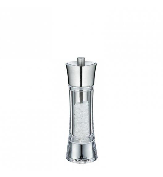 ZASSENHAUS Młynek do soli AACHEN ⌀ 5,8 x 18 cm, stalowo-akrylowy / FreeForm