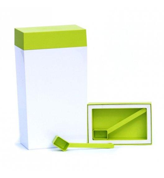 O'LaLa Pojemnik prostokątny z miarką do przechowywania żywności / 4,0 L / biało-zielony  / FreeForm