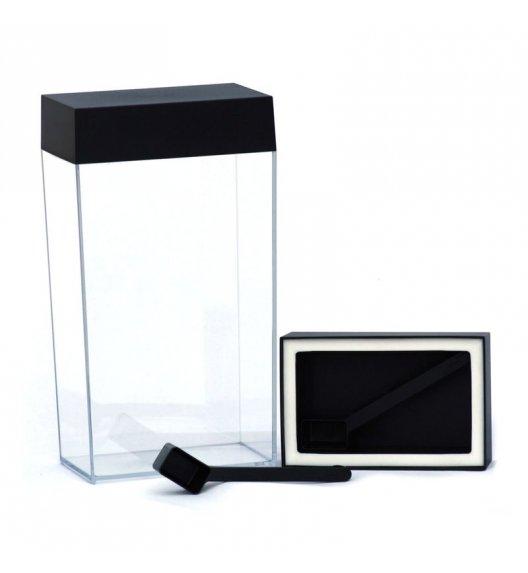 O'LaLa Przeźroczysty pojemnik prostokątny z miarką do przechowywania żywności / 4,0 L / czarny  / FreeForm