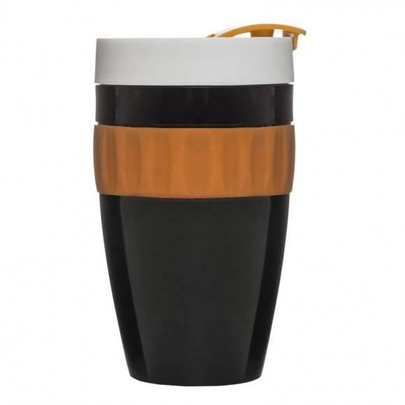 SAGAFORM Kubek termiczny CAFE brązowo-pomarańczowy, 0,4 l / FreeForm