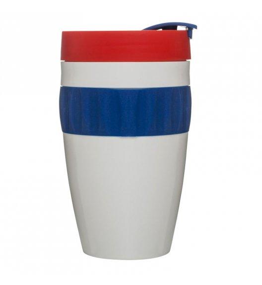 SAGAFORM Kubek termiczny CAFE biało-niebiesko-czerwony, 0,4 l / FreeForm