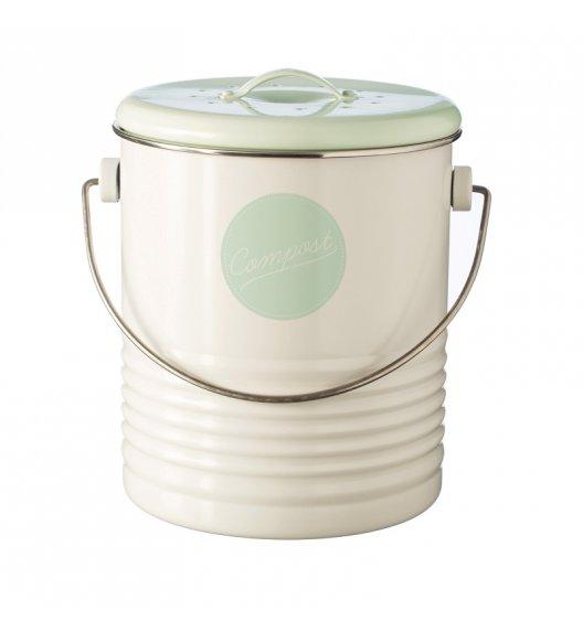 WYPRZEDAŻ! TYPHOON Kompostownik z filtrem neutralizującym zapach 3 l VINTAGE AMERICANA, biały / Btrzy