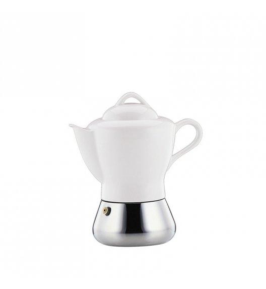WYPRZEDAŻ! CILIO Stalowa kawiarka na 4 espresso z porcelanowym dzbankiem NICOLE, indukcja / FreeForm