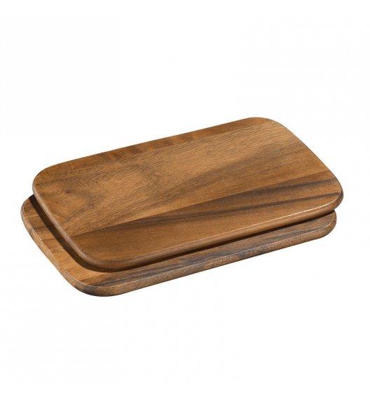 WYPRZEDAŻ! ZASSENHAUS Zestaw 2 desek do krojenia z drewna akacjowego 26 × 17 × 1 cm / FreeForm