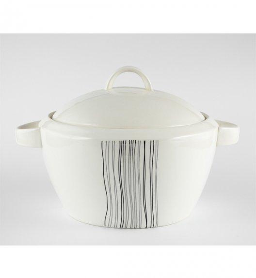 WYPRZEDAŻ! Waza 2,5 l Duo SILVER LINE wyroby porcelanowe.