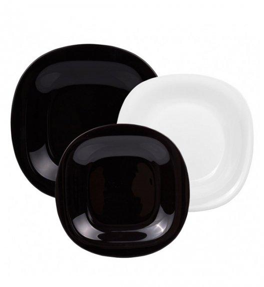 LUMINARC CARINE NEO WHITE&BLACK Komplet obiadowy 18 el dla 6 os / Szkło hartowane / 06493