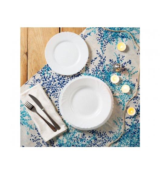 LUMINARC CADIX Komplet obiadowy 18 el dla 6 os z talerzem głębokim / Szkło hartowane / 03982