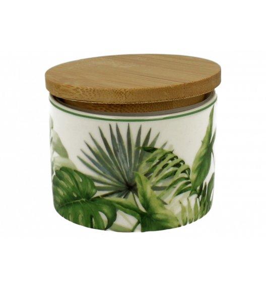 DUO GREEN Pojemnik kuchenny 140 ml z drewnianą pokrywką LIŚĆ C / Porcelana