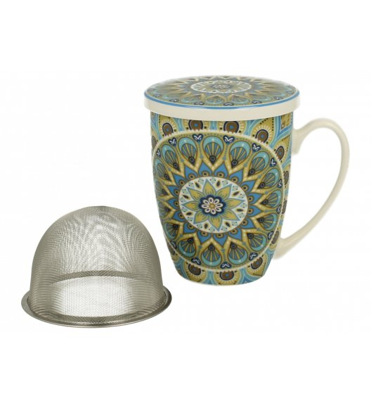 DUO MAROKO Kubek z zaparzaczem 320 ml TRIBAL / Porcelana