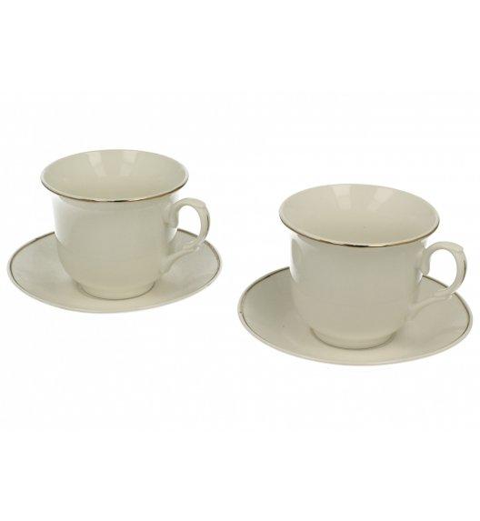 DUO STYLE Komplet 2 filiżanek 200 ml ze spodkami DIANA / porcelana