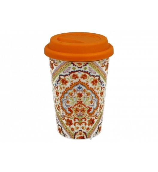 DUO ESPANIA Kubek z silikonową pokrywką 380 ml / Porcelana