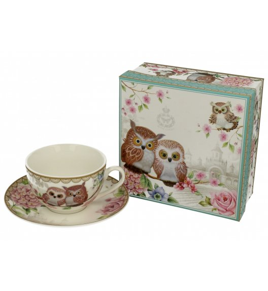 DUO STYLE Filiżanka ze spodkiem 250 ml OWLS / Porcelana