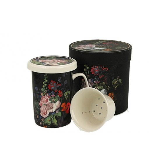 DUO MALWA Kubek z zaparzaczem 300 ml / porcelana