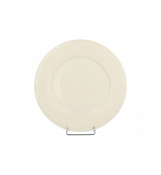 WYPRZEDAŻ! DUO KORONKA Talerz obiadowy 26,5 cm / porcelana