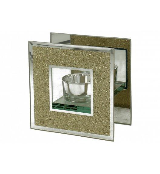 DUO GOLD GLITTER Świecznik szklany 11 cm / Złoto