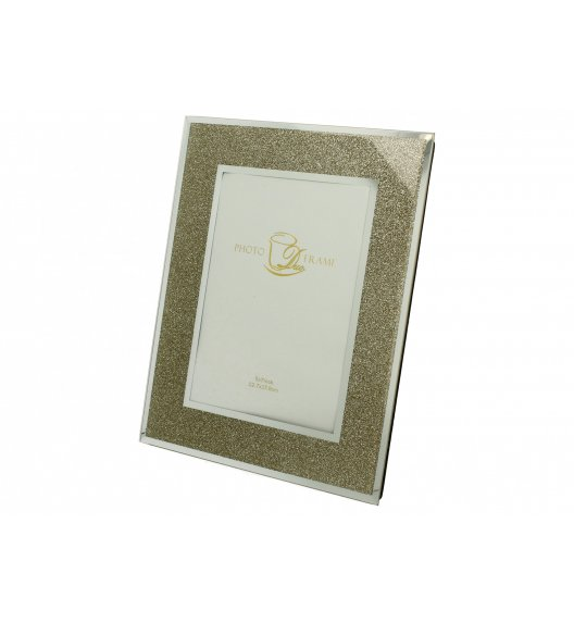 DUO GOLD GLITTER Ramka szklana na zdjęcia 23 cm / Złoto