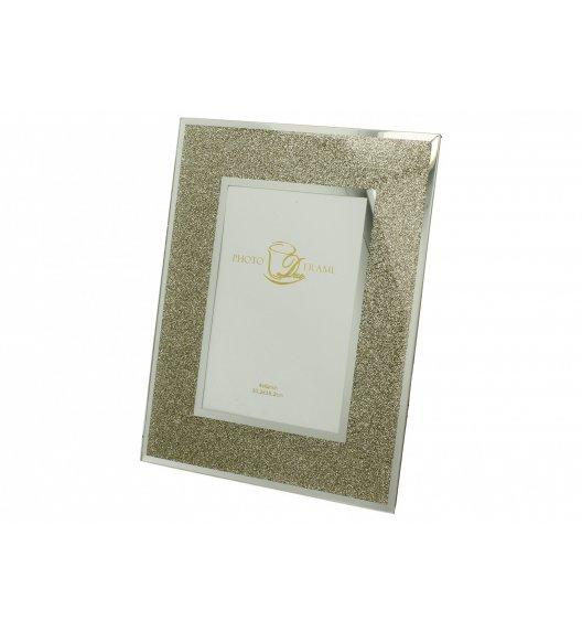 DUO GOLD GLITTER Ramka szklana na zdjęcia 25 cm / Złoto