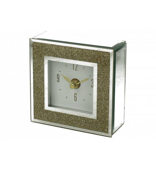 DUO GOLD GLITTER Zegar szklany 14 cm / Złoto