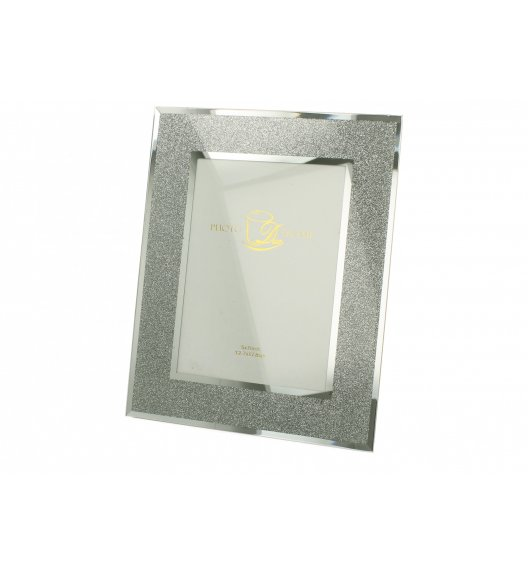 DUO SILVER GLITTER Ramka szklana na zdjęcia 25 cm / Srebro