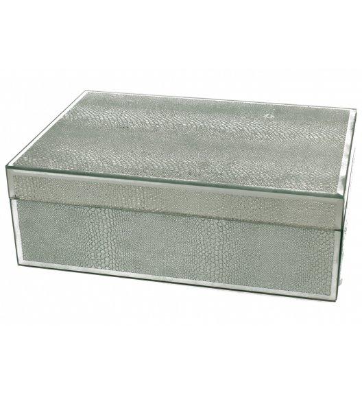DUO SILVER GLITTER Szkatułka szklana na biżuterię 24,5 cm SNAKE / Srebro