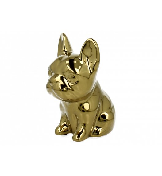 DUO Skarbonka BULDOG GOLD / Ceramika wysokiej jakości