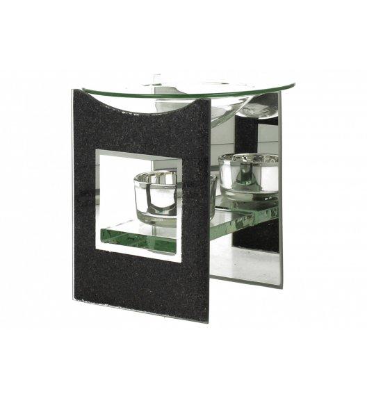 DUO BLACK GLITTER Kominek zapachowy szklany 12 cm / Czarny