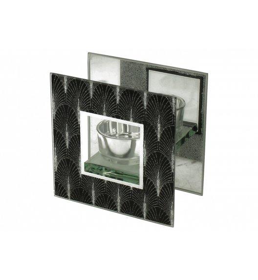 DUO FOXI Świecznik szklany 11 cm / Czarny