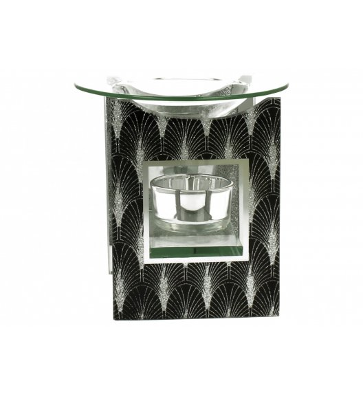 DUO FOXI Kominek zapachowy szklany 12 cm / Czarny