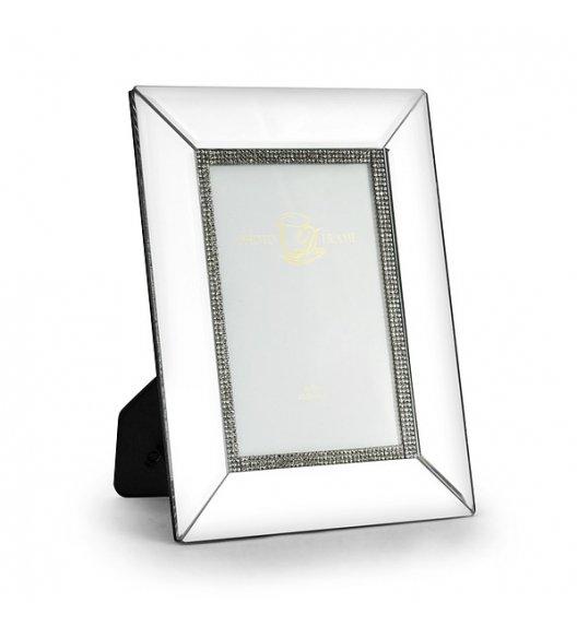 DUO CRYSTAL Ramka szklana na zdjęcia 23 cm / Srebrna