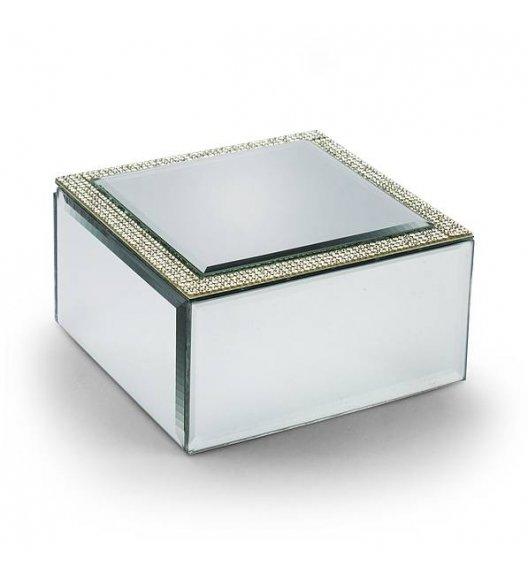 DUO CRYSTAL Szkatułka szklana na biżuterię 12 cm / Srebrna