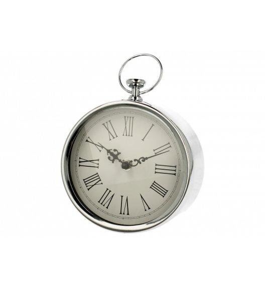 DUO RETRO SILVER Zegar stojący 18 cm / Srebrny