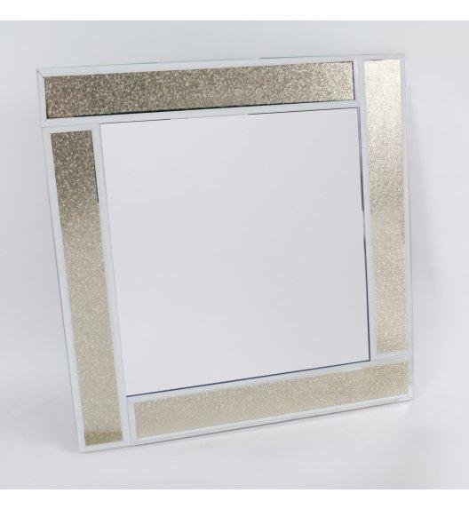 DUO GOLD GLITTER Lustro szklane 50 cm / Złoto